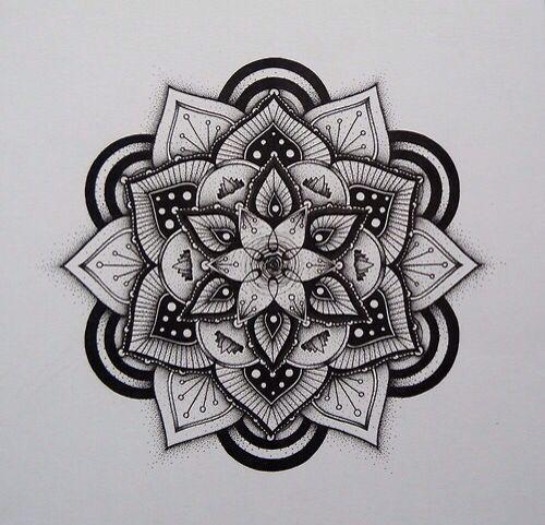 Mandala Pattern black & white color