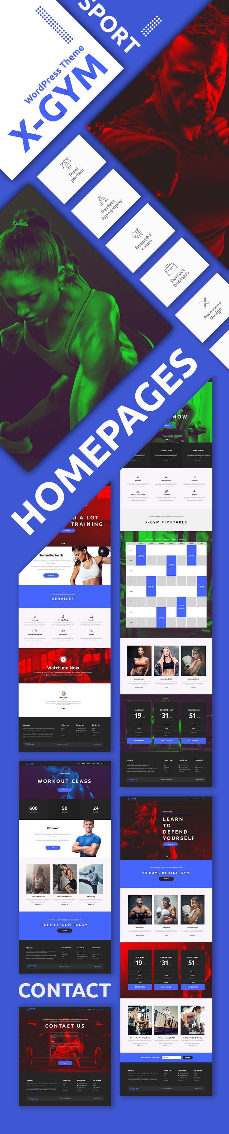 X-Gym - Fitness WordPress Theme for Fitness Clubs, Gyms & Fitness Centers by modeltheme