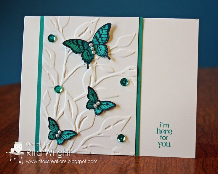 Papillon Potpourri, Petite Pairs, Elegant Butterfly & Bitty Butterfly punches, Sequins, CB Leafy Branch EF