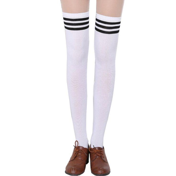 Fashion Brand Designer Women Over The Knee Socks Thigh High Thick Lovely Girls Princess Knee High Long Socks Puscard