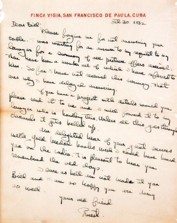 Hemmingway's Handwriting, and now my handwriting sucks