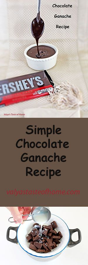 Simple Chocolate Ganache Recipe http://valyastasteofhome.com/simple-chocolate-ganache-recipe