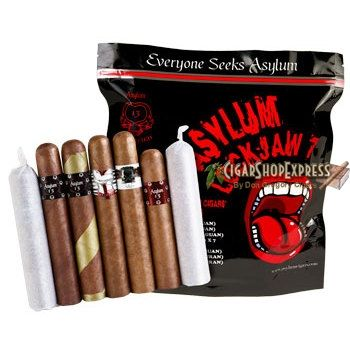 New Online Cigar Deal: Asylum Lock-Jaw 7 Sampler – $57.4 added to our Online Cigar Shop https://cigarshopexpress.com/online-cigar-shop/cigars/cigars-cigar-samplers/asylum-lock-jaw-7-sampler/ Cigar samplers make great holiday presents that will increase your fame and enjoyment. They are also a great way to introduce your friends to a wide variety of premium handmade ...