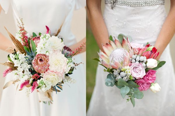 Pretty Protea Wedding Bouquets are set to be the next big thing according to @Elizabeth Anne Designs
