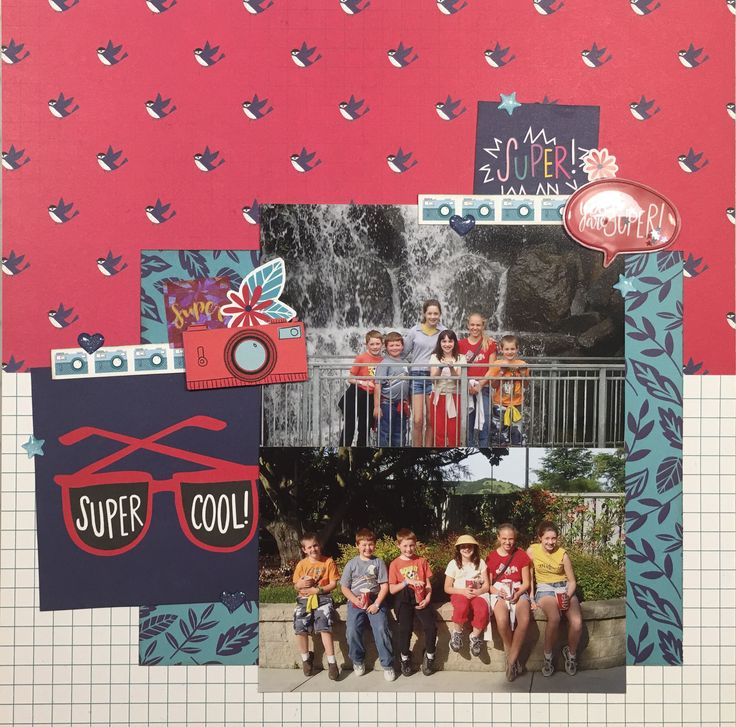 This is one of many layouts I have created using the Glitter Girl Collection from Shimelle Laine