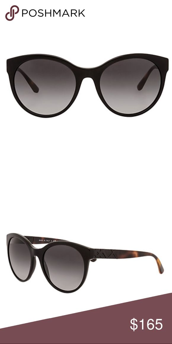 Burberry Women's BE4236 56mm Sunglasses 100% AUTHENTIC THE DETAILS Frame shape: round Frame color: black Lens color: grey These frames flatter those with an oval, diamond, square, triangle or oblong shaped face Lens: 56mm wide Bridge: 19mm wide Arms: 140mm long Case included; case size and color may vary Made in Italy Burberry Accessories Sunglasses