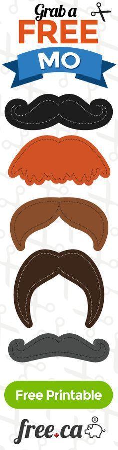Free Printable Mustache Templates http://free.ca/blog/moustache-templates/