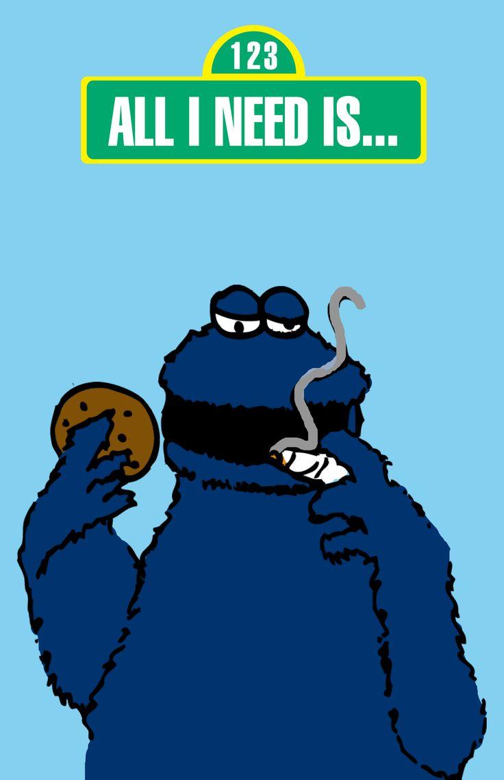 COOKIE MONSTER WEED | I L L U S T R A T I O N | Pinterest | Weed, Cookie monster and Monsters