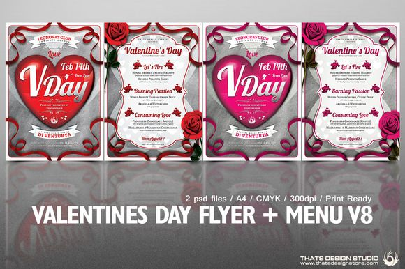 valentine's day flyer template download