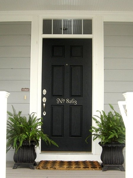 Beautiful black door & address numbers.