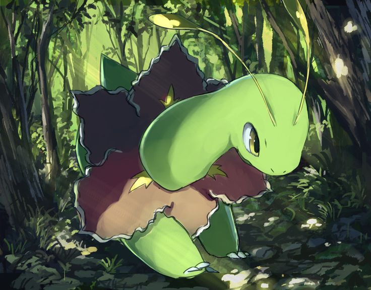 This is Meganium. She is level 30 and is a real sweetheart. She's gentle, and she worked hard to impress the others. Might bring her to the League too ;)