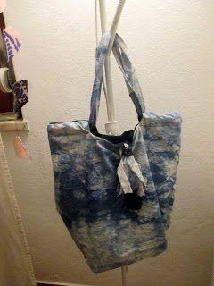 Bag - saco com tecido tingido, dupla face.