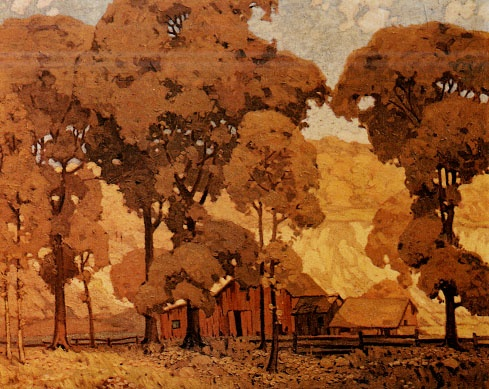 A. J. Casson (Canada-Group of Seven). Autumn Afternoon,