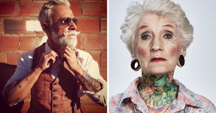 ¿Alguna vez te has preguntado como lucirán tus tatuajes cuando seas mayor? Muchos podrían creer que los tatuajes perderían forma y se vería más parecido a una mancha de color a una obra de arte genial. Pero esas personas pueden estar completamente equivocadas. A continuación te mostramos 25 fotografías que comprueban que aun teniendo 60 años tus tatuajes pueden lucir espectaculares, no es necesario que seas una persona joven para lucirlos con gran orgullo. ¿Te gustaría lucir así ha esa edad?