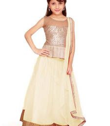 Buy Off White Soft Net kids-lehenga-choli kids-lehenga-choli online