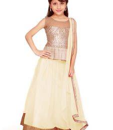 Buy Off White Soft Net kids-lehenga-choli kids-lehenga-choli online