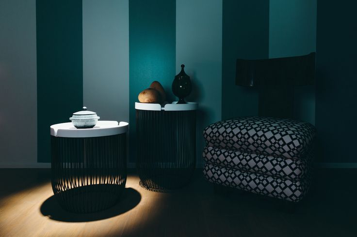 MILLER on set # #corian #container #tray #design #interior #coffee #table #iron #outdoor #indoor | ph. Tomaso Lisca