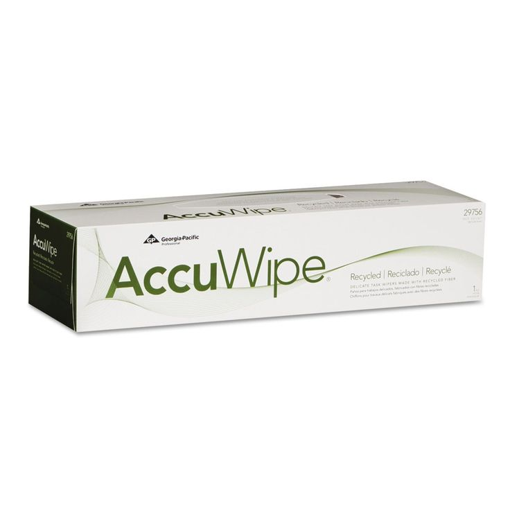 Georgia Pacific Professional AccuWipe Recycled One-Ply Delicate Task Wipers 15 x 16 7/10 140/Box