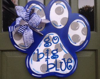 UK Paw Print Door Hanger by TheeAlleyKat on Etsy