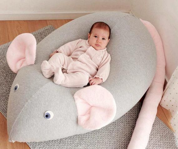 Astonishing Huge Mouse Beanbag Pillow Baby Bean Bag Kids Beanbag Pouf Creativecarmelina Interior Chair Design Creativecarmelinacom