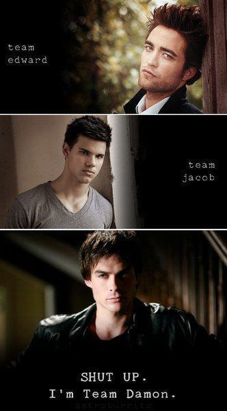 Ian Somerhalder. Team Edward? Team Jacob? No, Team Damon!! Vampire Diaries.@Lyndsey Crawford
