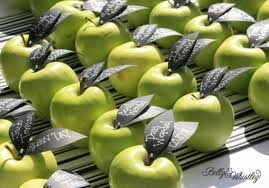 #granny smith #apple #place cards #table settings