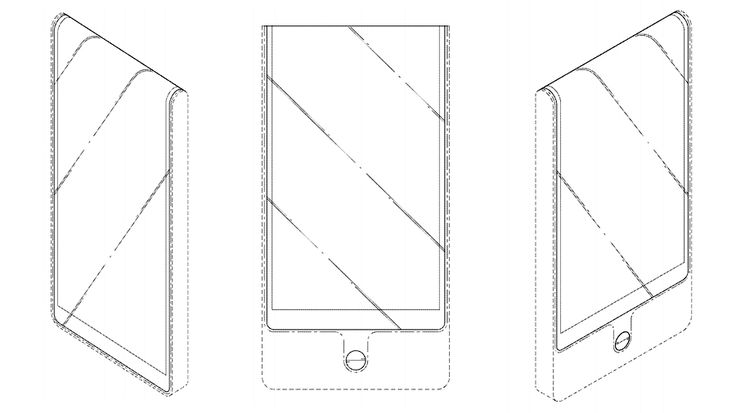 LG's latest phone patent wraps its screen all the way around the top