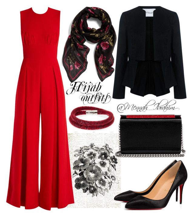 #Hijab_outfits #modesty #Classic #night by mennah-ibrahim on Polyvore featuring polyvore fashion style 10 Crosby Derek Lam Emilia Wickstead Christian Louboutin Swarovski clothing