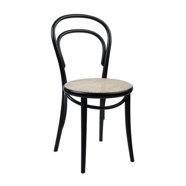 Stuhl 14 Buchenholz Schwarz Lackiert Sitz Aus Rohrgeflecht In 2020 Buchenholz Ton Stuhle Holzstuhle