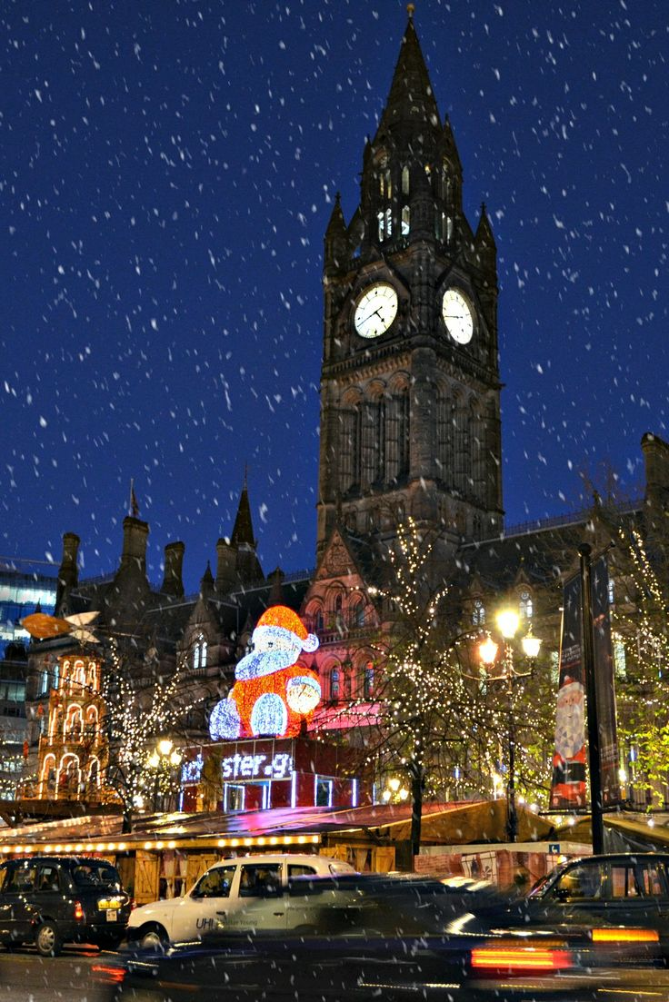 Manchester Town Hall & Albert Square Christmas markets, England