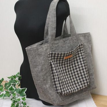 Downloadable bag pattern - love the deep rounded pocket on the front of this one. Instructions are in Japanese but the diagrams look easy enough to follow.