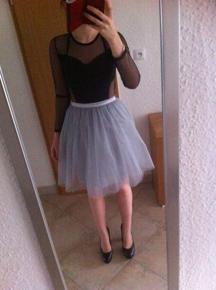 Wedding outfit. Tule ballerina skirt, semi- transparent body, ck heels. #Enjoy Yourself