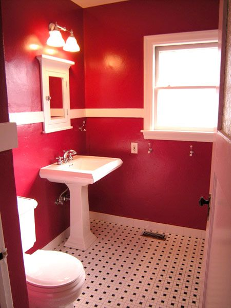 27 best bathroom color images on Pinterest Bathroom colors - red bathroom ideas
