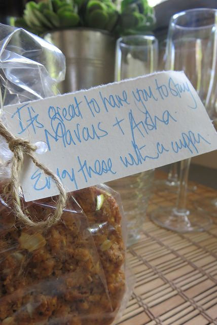 A hand-written note and welcome biscuits at Big Blue Backyard, Mornington Peninsula, AUS | by http://qosy.co