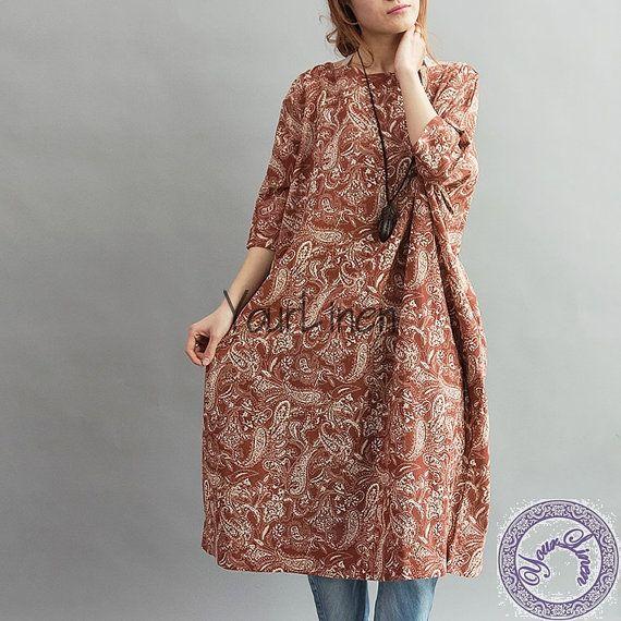 49 best Linen&Cotton Dress images on Pinterest