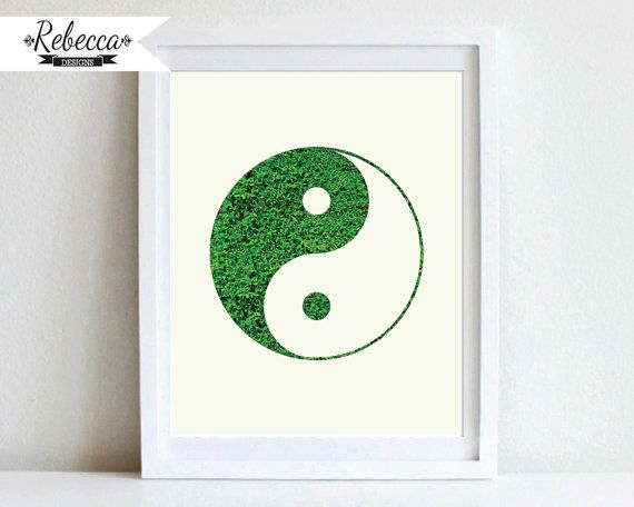 ying yang poster ying yang sign ying yang decor ying yang printable ying yang wall decor yin yang ying yang ying yang art by RebeccaDesigns22, $5.00