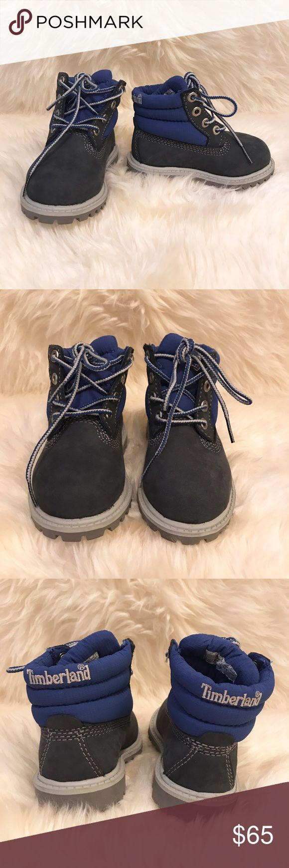 TIMBERLANDS toddler navy blue high top boots BRAND NEW WITHOUT BOX. Toddler navy blue high top boots. Never used. Timberland Shoes Boots