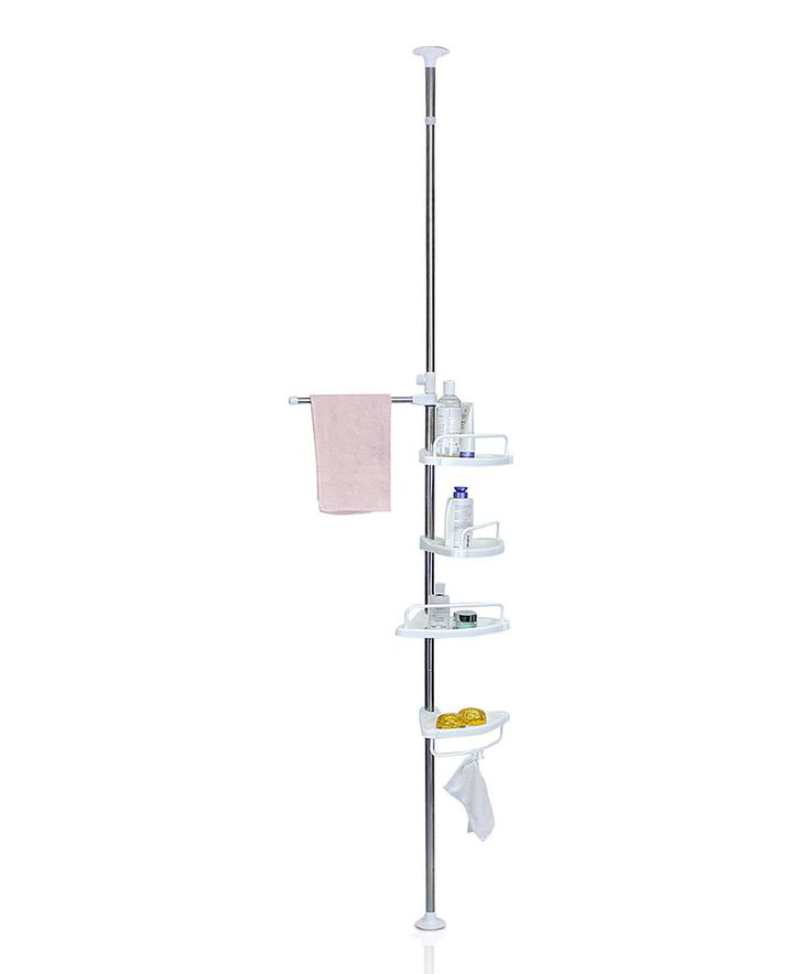 Loving this Tension Pole Bathroom Tub & Shower Caddy on #zulily! #zulilyfinds