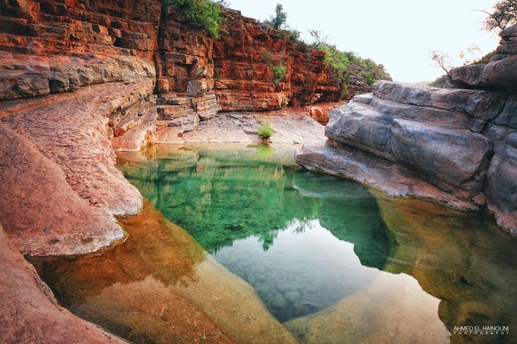 One of the many stunning freshwater rock pools in Morocco's Paradise Valley. RePinned by : www.powercouplelife.com