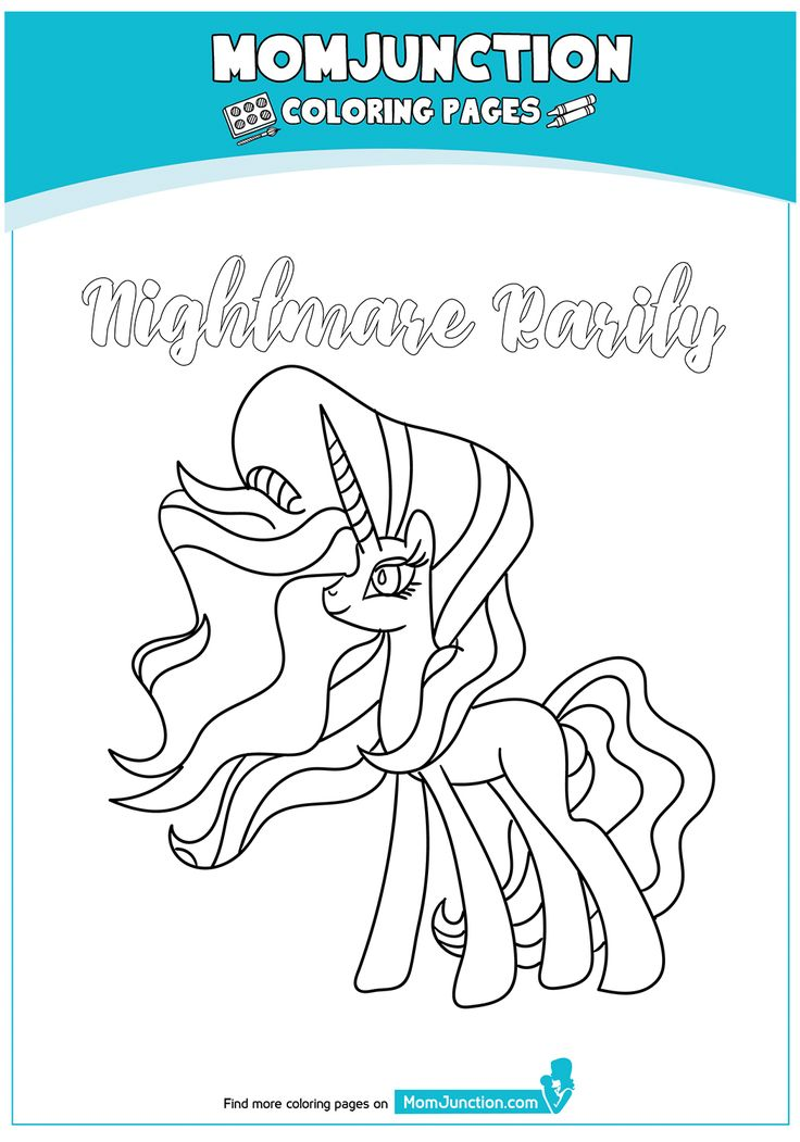 nightmarerarity17  coloring pages rarity pony