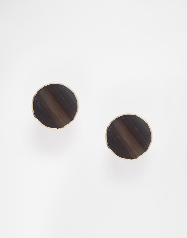 Earrings by Made 100% silver finish Grey stone stud design Bullet clutch back Avoid contact with liquids 100% Base Metal