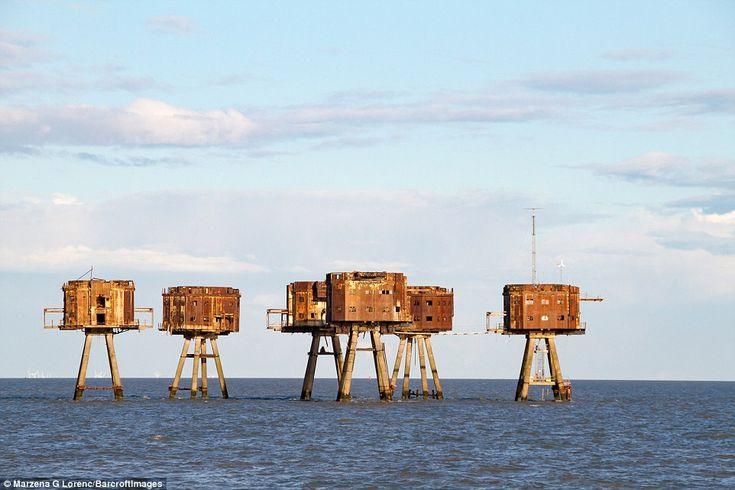 Tres conjuntos de Maunsell Se construyeron fuertes en el estuario - Nore los fuertes de la...
