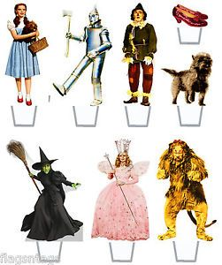 wizard of oz paperdolls | WIZARD OF OZ ♥14 x ASSORTED STAND UP EDIBLE WAFER RICE PAPER CUP ...