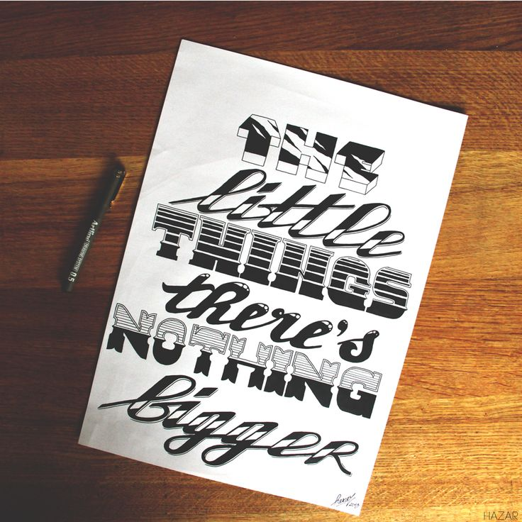 """The Little Things"" by Justin Verkest #typography #lettering #handlettering #fonts"