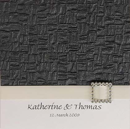 Lattice With Buckle Wedding Invitation - The lattice paper is available in more than 20 colours. www.kardella.com