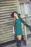 Simply Solid with Button Sleeve in Green | Entourage Clothing & Gifts