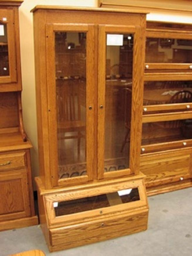 build your own gun cabinet woodworking projects plans. Black Bedroom Furniture Sets. Home Design Ideas