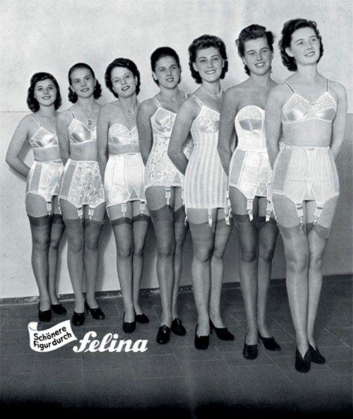 Anuncio fajas - cartel publicidad de Felina años 50  Clasic Lingerie