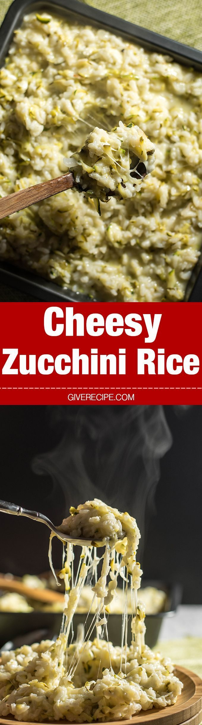 Cheesy Zucchini Rice will be the most favorite side of your family in summer. Despite all the zucchini inside! 100% guaranteed! - http://giverecipe.com