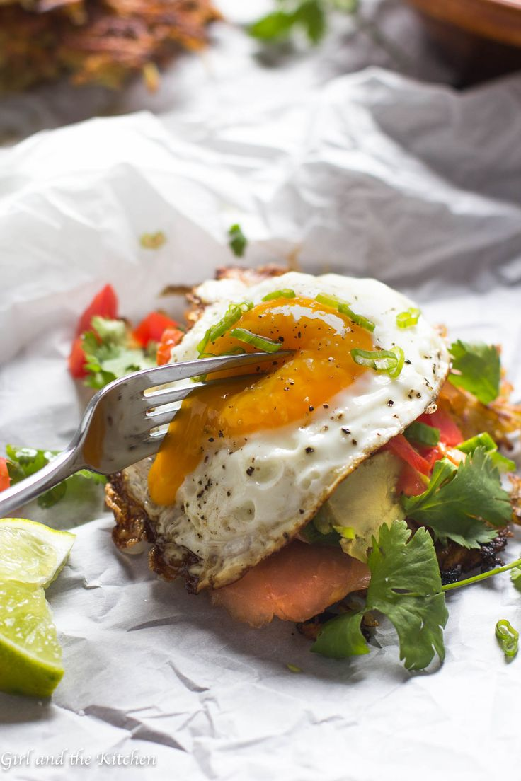 Mexican Tostada Topped With A Poached Egg Recipe — Dishmaps